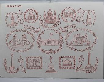 Vintage Iron-on Transfer - London Town