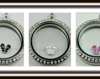 Flip Flops Floating Charm for Glass Locket / Floating Locket