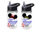 my first DISNEY cruise - Mickey OR Minnie kids Disney water bottle - 10 oz. kids water bottle personalized with name - made to order