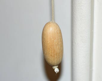Handmade wooden light pulls
