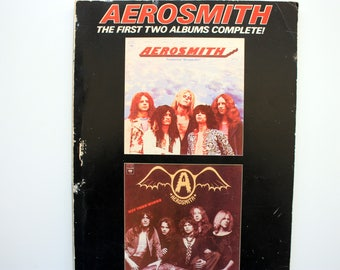 Aerosmith The First Two Albums Complete Sheet Music / Aerosmith Collectible/ Aerosmith Music /  Aerosmith Book