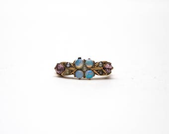 SOLD*** Victorian Opal and Amethyst Ring (For 6/30/17)