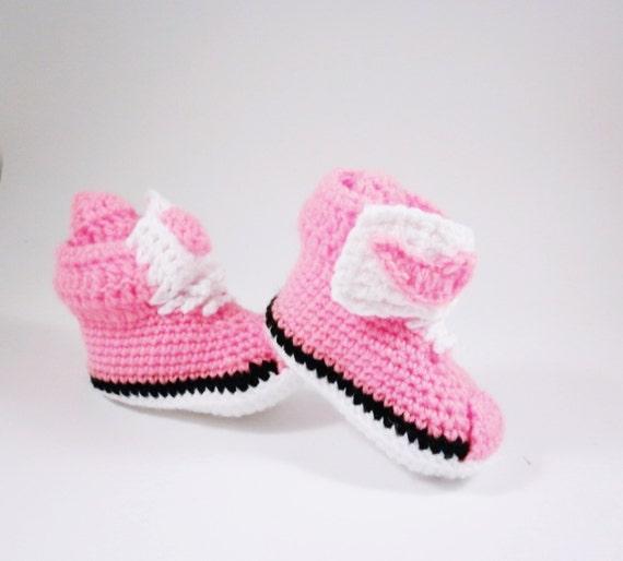 8f3893d0f8342 Pink baby sneakers Nike sneakers Crochet a newborn by SvetlanaVP ...