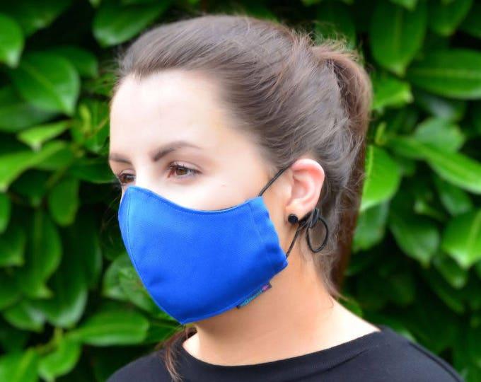 MASKERAID® Royal Blue Reusable Cotton Canvas Face Mask