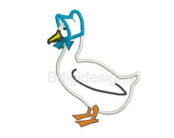 Mother Goose Applique Embroidery Design