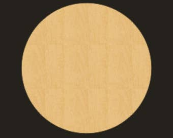 Unfinished Wood CIRCLE Cutout - BS002