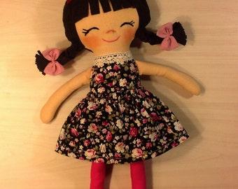 cloth doll rag doll custom doll soft doll textile fabric  for girl stuffed doll gift for girls plush doll little girl gift nursery doll