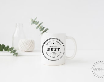 World's Best Dad Mug | Father's Day Gift | Best Dad Ever | Pregnancy Reveal Gift | New Dad Gift | Congratulations Dad | New Baby Dad Gift