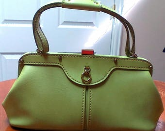 Vintage Green Handbag By Jaclyn USA