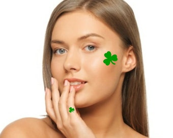 Temporary Tattoo 4 Clover Tattoos Shamrocks St Patrick's Day Fake Tattoos Thin Realistic
