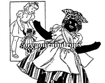 Mandy Vintage Black Americana Mammy Cloth Doll Pattern and Clothes Needlework Arts Pattern 1335 - PDF INSTANT DOWNLOAD ePattern
