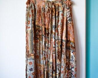 Vintage free size hippie skirt