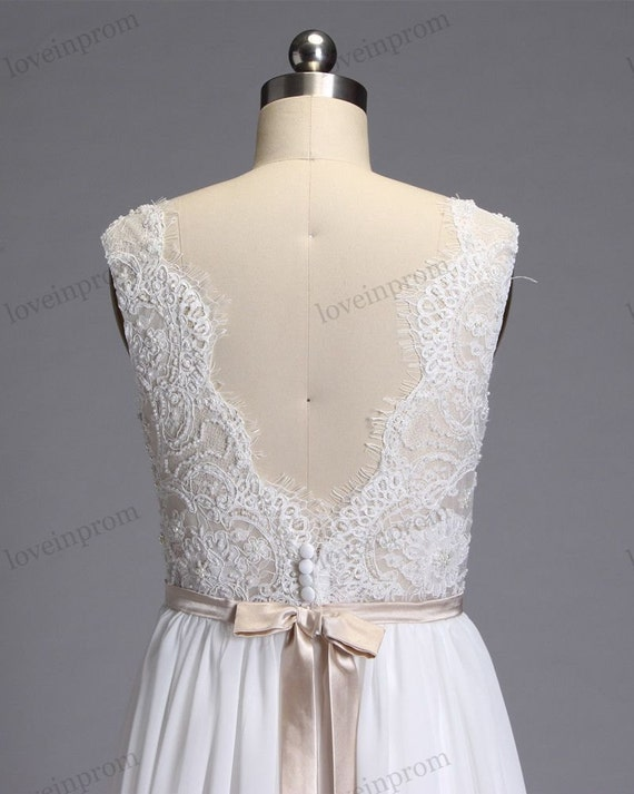 Boho Wedding Dress Summer Beach Lace Wedding Dresses
