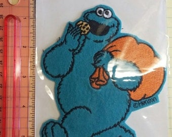 Cookie Monster, Full Body, Iron-On Patch (Free Shipping!)