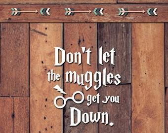 Muggles Decal | Yeti Decal | Yeti Sticker | Tumbler Decal | Car Decal | Vinyl Decal