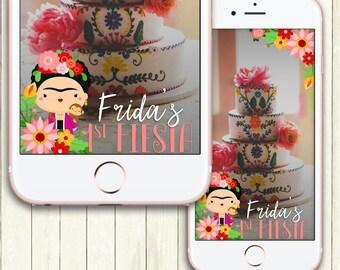 Custom Snapchat Geofilter, Frida Kahlo Snapchat Filter, Fiesta, Cinco De Mayo, Mexican, Frida