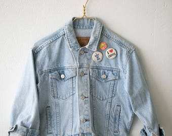 Vintage Gap Denim Cropped Jacket Sz M