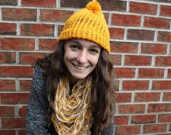 Sunflower Yellow Knit Beanie