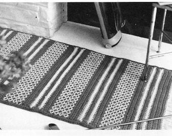 Crochet rug crochet pattern PDF crochet floor mat crochet carpet 22x44 inch rug wool pdf instant download