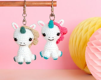 Crochet Purse Keychain Pattern : Ice cream keychain Crochet keychain Amigurumi keychain