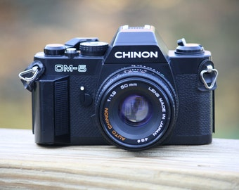 Chinon CM-5 Camera with Chinon 1:1.9 50mm Lens