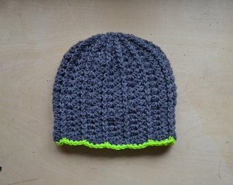 Gray Slouchy Hat - Ready to Ship
