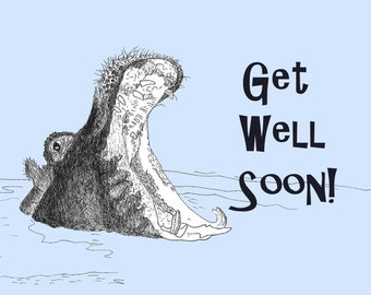Get well Soon Hippo