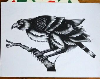 Large Crow Drawing Flash