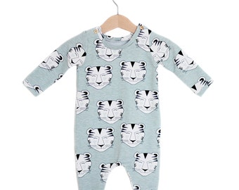 Tiger Organic Cotton Baby Long Sleeve Romper