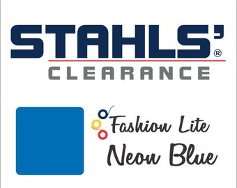 "12"" x 19"" - 15 Craft Sheets - Stahls' Fashion-LITE - Smooth - Iron-on Heat Transfer Vinyl - HTV –  Neon Blue"