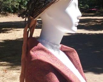 1800s Silk Accordion Pleated Bonnet- Needs Restoration