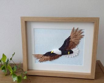 Bald Eagle, Eagle wall art, American Eagle, eagle sculpture, eagle art, bird art, bird of prey, bird sculpture, eagle decor, eagle gift