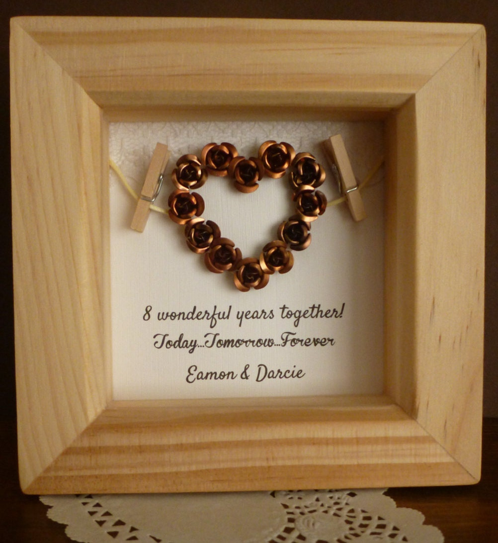 8th Bronze Anniversary Gift 8th Wedding Anniversary Gift