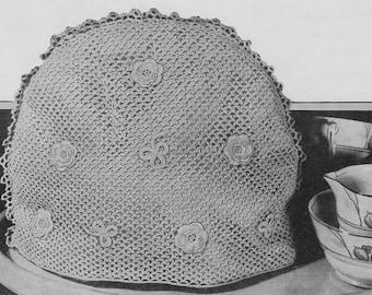 Vintage 1938 Irish Crochet Pattern Tea Cosy - digital download