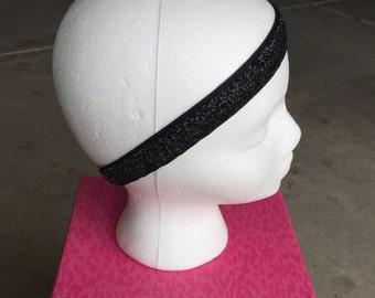 Black Glitter Headband