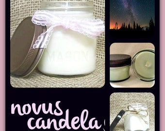 Soy Candle Mason Jar ~ Beneath the Stars Scented Soy Candle ~ Mason Jar Candle ~ Soy Candle ~ Scented Candle ~ Handmade Candle 4 & 8 oz