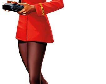 Lt. Uhura card Birthday card, Girls in space be wary greeting card, Hailing Frequencies Open sticker greeting card,