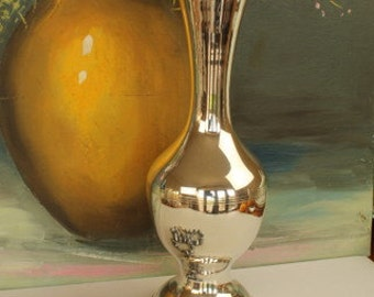 Smooth Silver Plated Vase