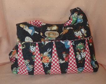 Gorgeous Alice in Wonderland fashion shoulder bag