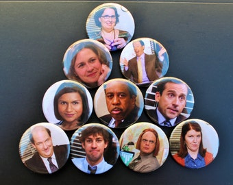 The Office US Pinback Buttons