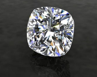 SUPERNOVA CUSHION Cut Moissanite Loose Gemstones Colorless Cushion Moissanite Large Sizes Moissanite Engagement Rings
