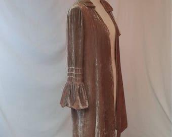 1920s Opera Jacket, Coat, Gold Velvet.  Stunning!