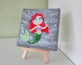 Ariel (The Little Mermaid) - Mini painting