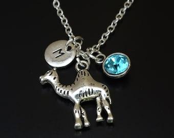Camel Necklace, Camel Charm, Camel Pendant, Camel Jewelry, Dromedary Necklace, Dromedary Charm, Dromedary Pendant, Dromedary Jewelry, Desert