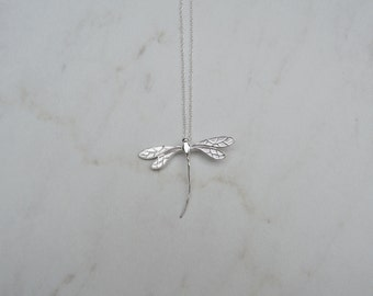 Dragonfly Necklace, 925 Sterling Silver