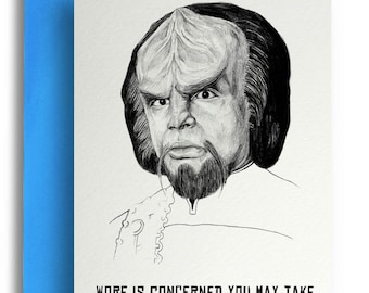 Star Trek Worf Card