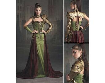 Medieval Warrior Princess, Simplicity Pattern 8363, Fantasy Ranger, Cosplay, Foam Armor & Crown, Laced Corset, Firefly Path, Sz: 6-22 UN-CUT