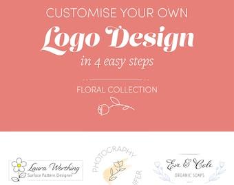 Custom Logo Design. Logo Branding. Floral Logo. Logo for business. Feminine Logo. Shop logo. Logo Template. Premade logo. Business logo.