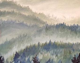 Mountain Range Scene
