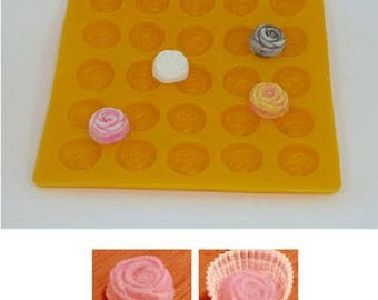 "1"" Rose Yellow Flexible Mold--Rose Cream Cheese Mint Mold, Butter Mints, Chocolate, Fondant, Etc."